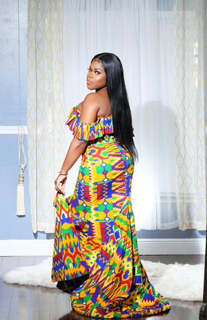 """Give Me Skin"" Ankara Gown"