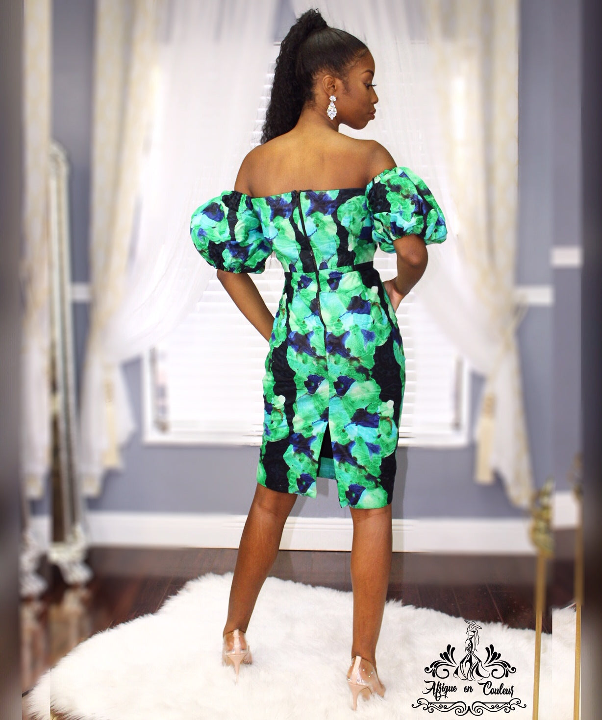 """Where the Grass In Greener"" Women's Mini Ankara Dress"