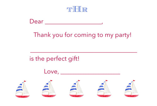 Easy Breezy Boat Thank You Notes