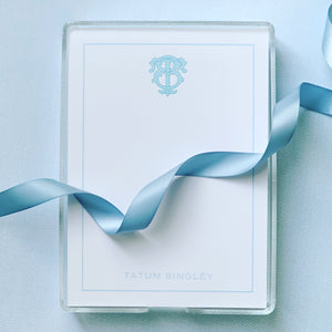 Monogram Notepad - Blue