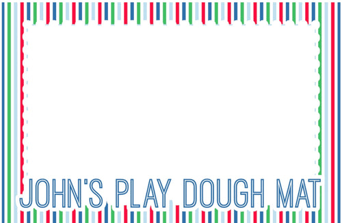 Personalized Play dough Placemat-Blue