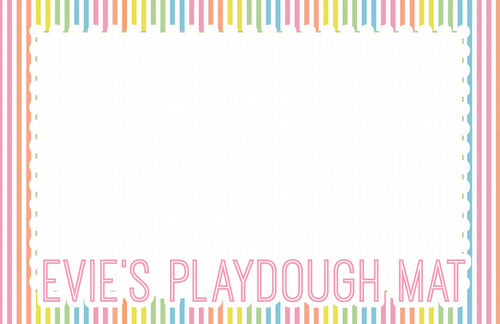 Personalized Play dough Placemat-Pink