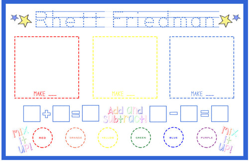 Early Learning Placemat-Blue