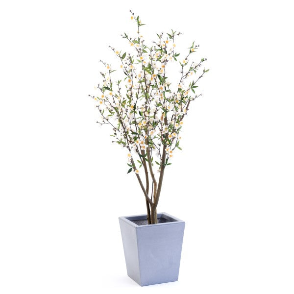 Artificial Tree - Cherry Blossom - White