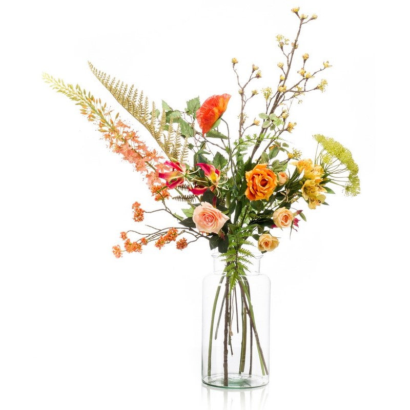 Happy Orange Flower Bouquet