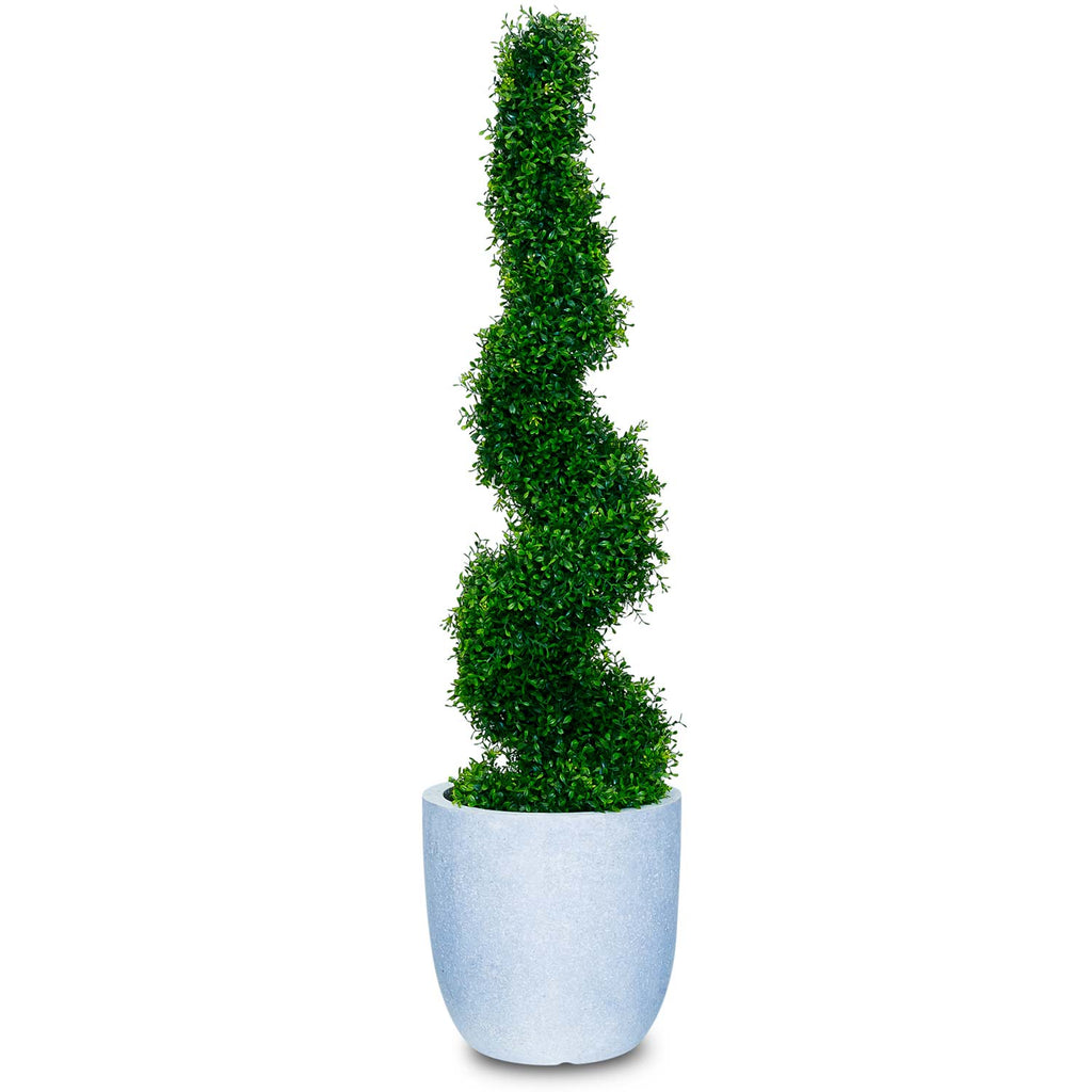 Artificial Boxwood Spiral