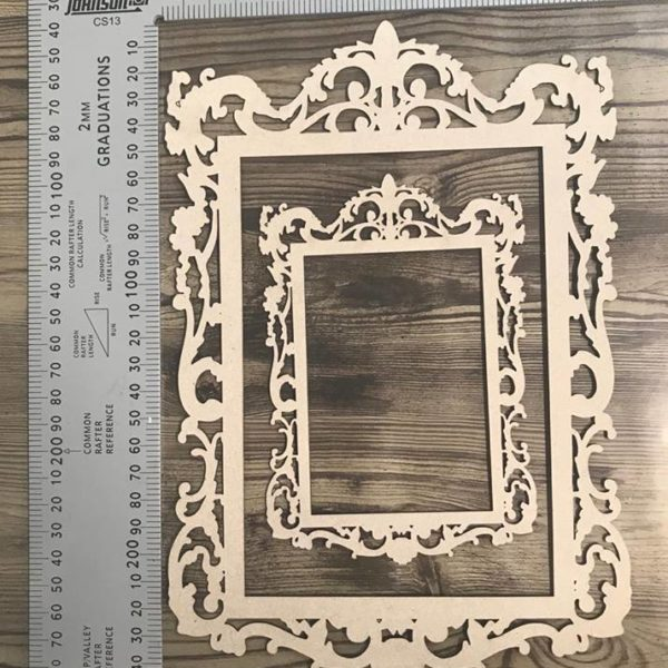 Vintage Frames set of 2 Chipboard