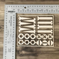 Screws Nuts and Bolts Set