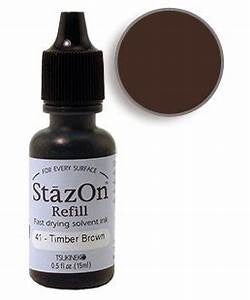 Timber Brown StazOn Refill Ink