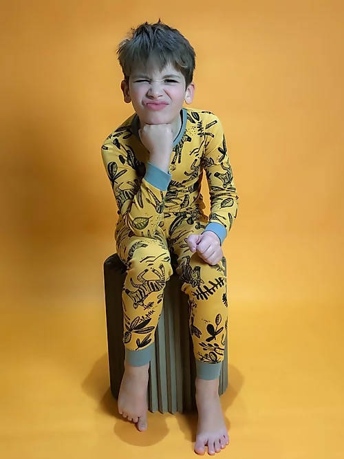 Yellow Zebra Children's Pyjama Set