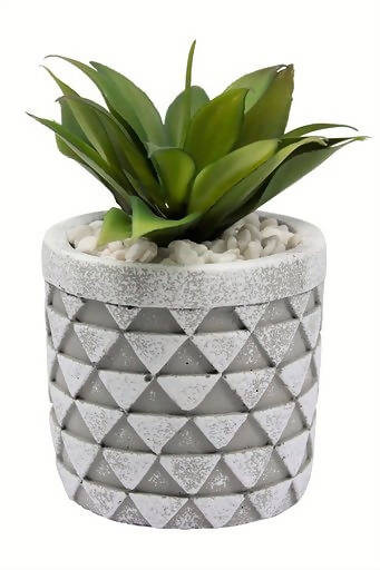 Faux Succulents – Small Diamond Planter