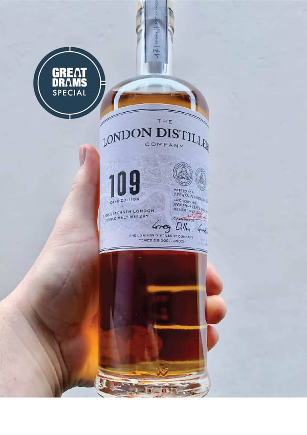 GREATDRAMS EXCLUSIVE BOTTLING FROM THE LONDON DISTILLERY COMPANY