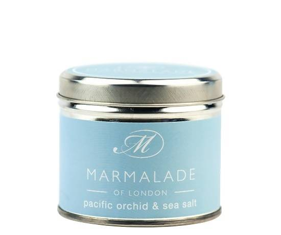 Pacific Orchid & Sea Salt Medium Tin Candle
