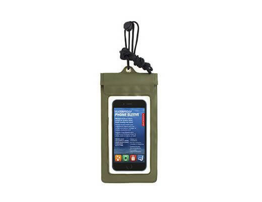 Waterproof Phone Sleeve Green
