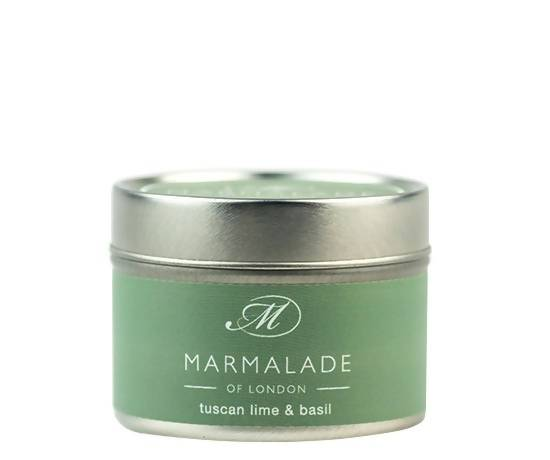 Tuscan Lime & Basil Small Tin Candle