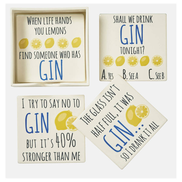 Set of 4 Gin Coasters