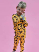 Load image into Gallery viewer, Yellow Zebra Children's Pyjama Set