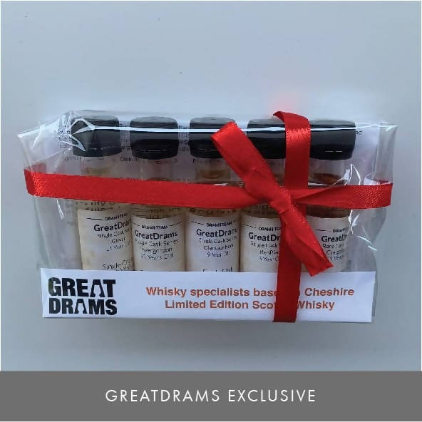 FIVE PACK OF LIMITED EDITION GREATDRAMS SCOTCH WHISKIES