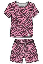 Load image into Gallery viewer, Pink Skin Children's Shortie Set