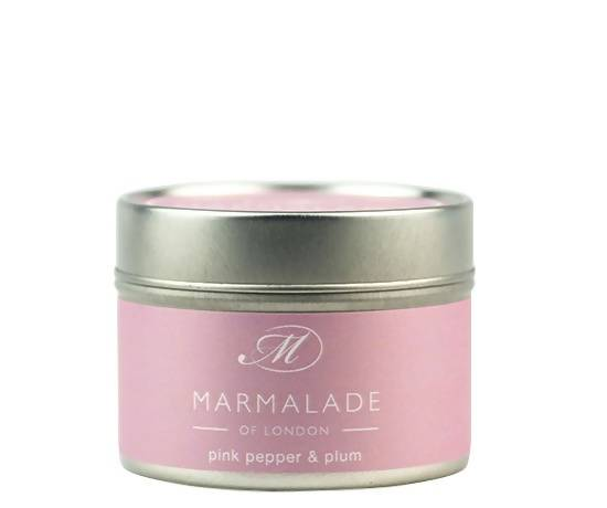 Pink Pepper & Plum Small Tin Candle