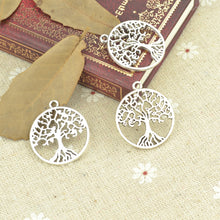 Load image into Gallery viewer, Tibetan Silver Plated Tree of life Charms Handmade