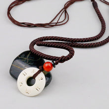 Load image into Gallery viewer, Tibetan Handmade Simple Rope Tagua Nut Necklace
