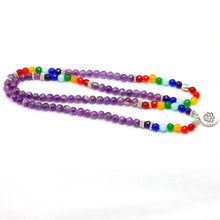 Load image into Gallery viewer, 7 Chakra 108 Beaded Mala