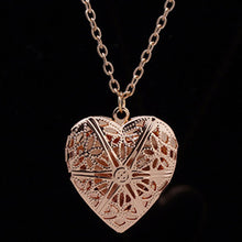 Load image into Gallery viewer, Hollow Heart Pendant Bijoux Necklace