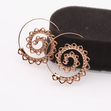 Load image into Gallery viewer, Ethnic Swirl Hoop Earring