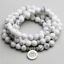 Load image into Gallery viewer, White Howlite 108 Beaded Mala