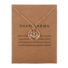 Load image into Gallery viewer, Good Karma Buddha & Lotus Pendant Necklace
