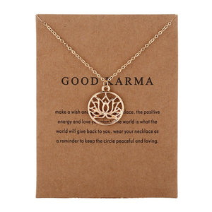 Good Karma Buddha & Lotus Pendant Necklace