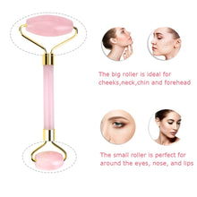 Load image into Gallery viewer, Natural Rose Quartz Facial Roller