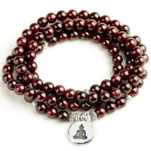 Load image into Gallery viewer, Natural Garnet 108 Beaded Mala