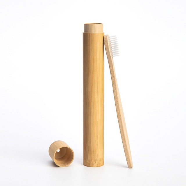 Eco-Conscious Bamboo Toothbrush Carry Case