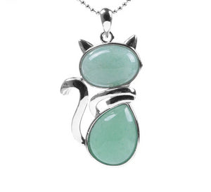 Natural Cat Stone Necklace