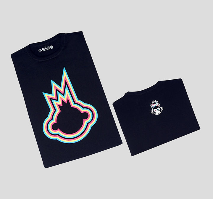 Bira 91 Boom Explosion Outline T-Shirt - Navy Blue
