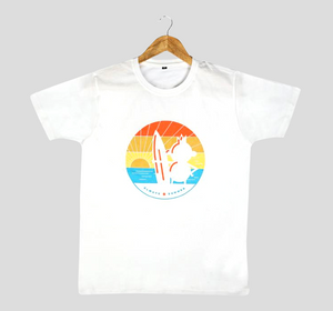 Bira 91 Sunset Surfing Graphic T-shirt - White