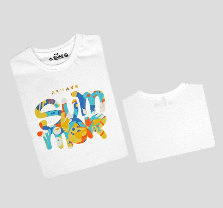 Bira 91 Always Summer Multicolour Print T-shirt - White