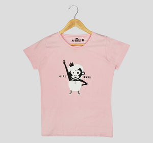 Bira 91 Girl Boss Slogan T-shirt - Light Pink