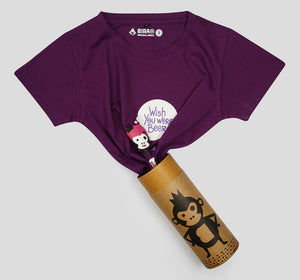 Bira 91 Wish You Were Beer Slogan T-shirt - Purple