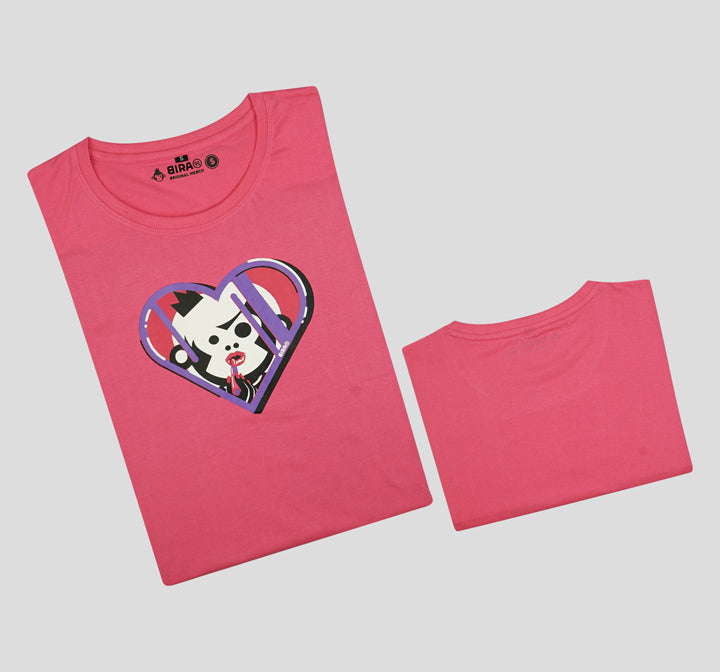 Bira 91 Makeup Maven Graphic T-shirt - Dark Pink
