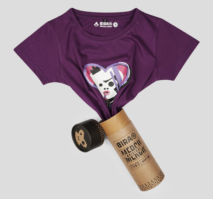 Bira 91 Makeup Maven Graphic T-shirt - Purple