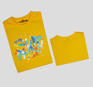 Bira 91 Always Summer Multicolour Print T-shirt - Yellow