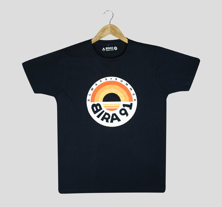 Bira 91 Always Summer Sunset Graphic T-shirt - Navy Blue