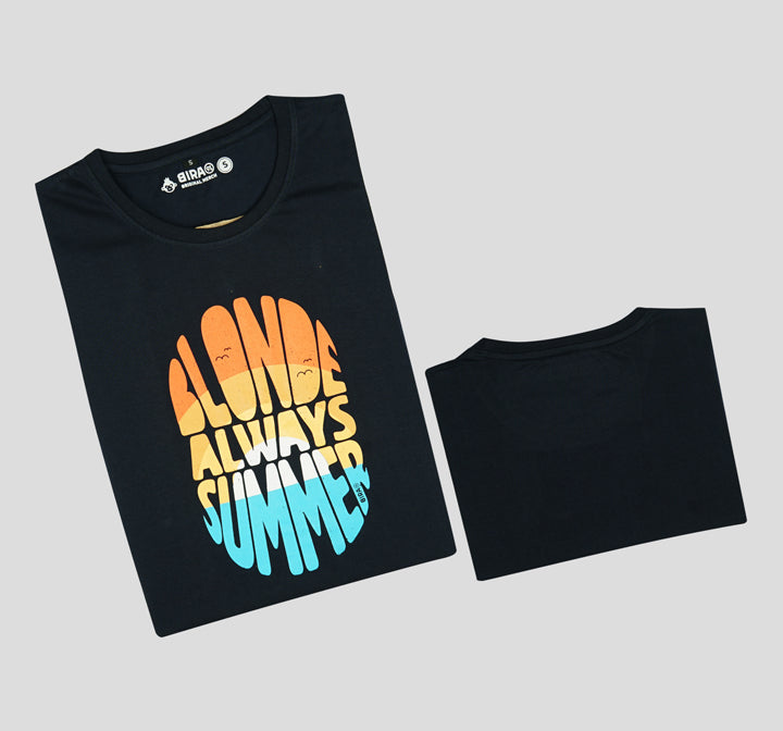 Bira 91 Always Summer Slogan T-shirt - Navy Blue
