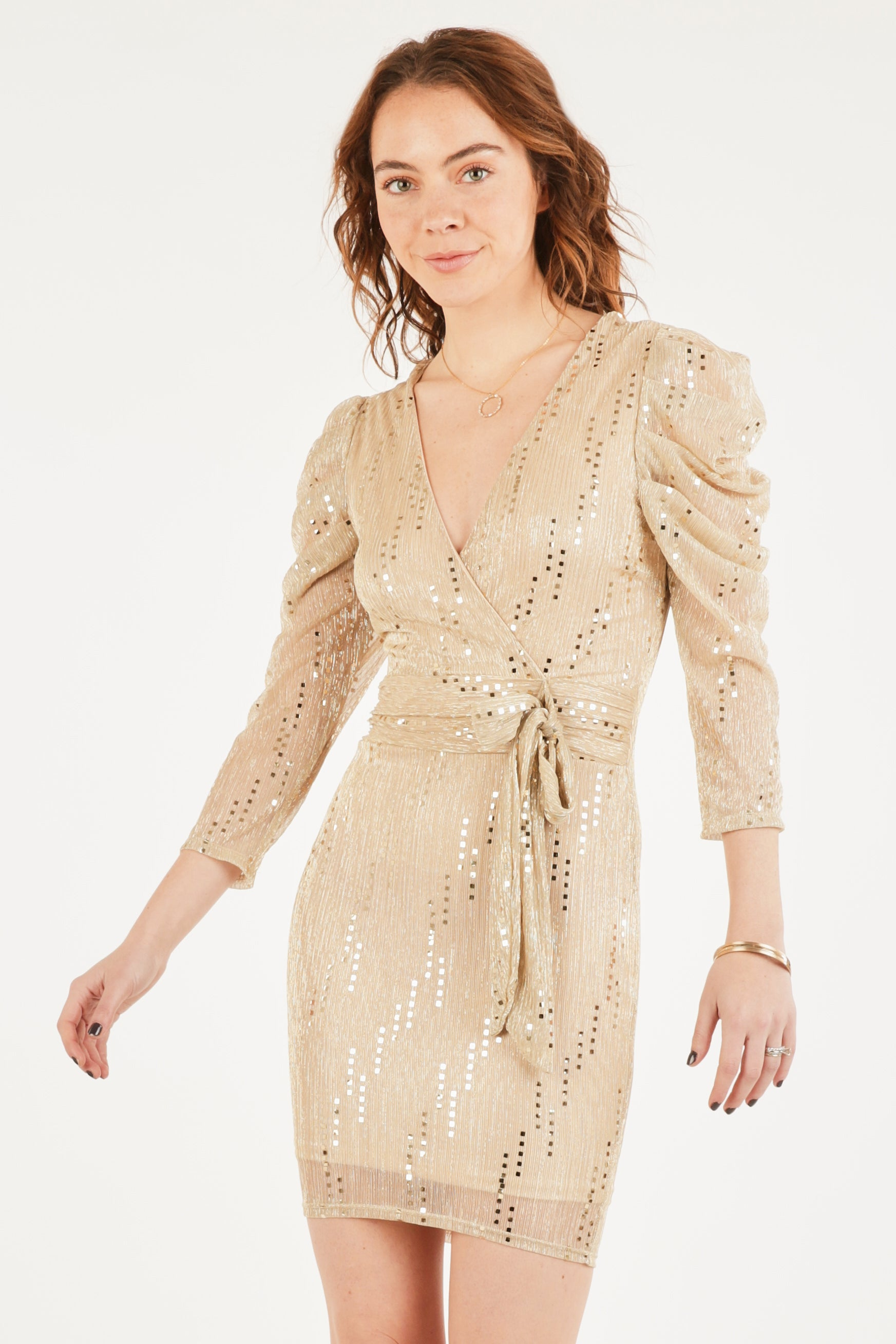 Elegant Francesca Sequin Dress
