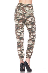 All over Camo Waist tie Cargo Pants
