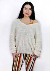 All the Cozy Textured V-neck Sweater