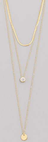 Dainty Layered Disc Necklace
